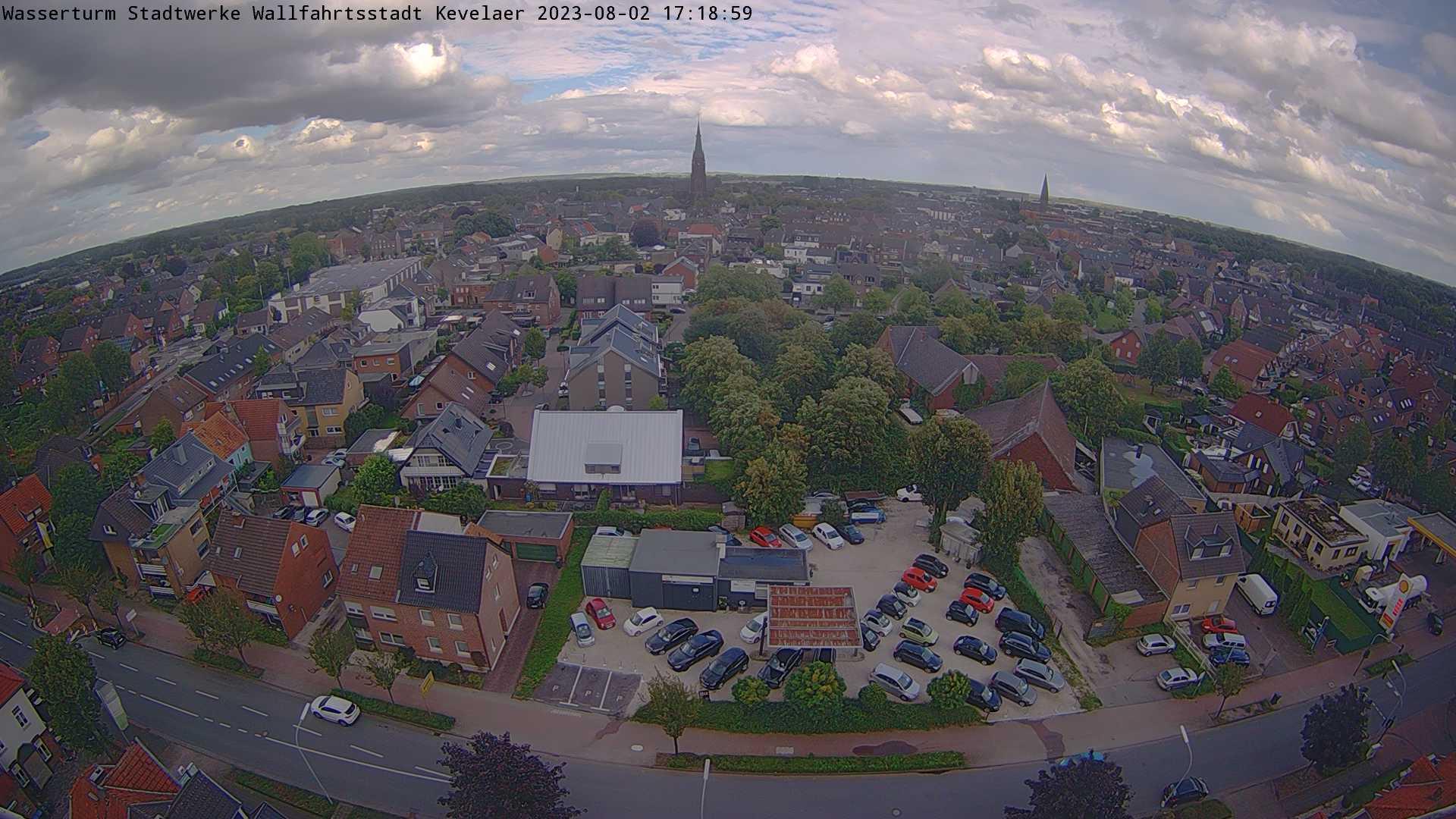 Bild der Webcam mit Blick vom Wasserturm